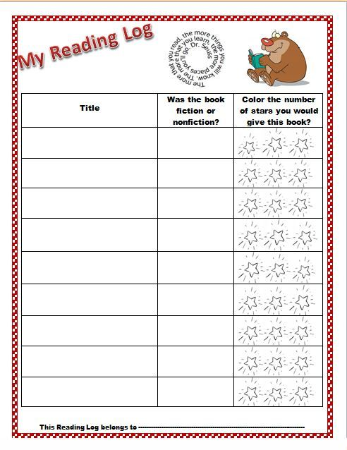 kindergarten guided reading cover sheet template
