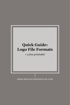quick guide to image file formats