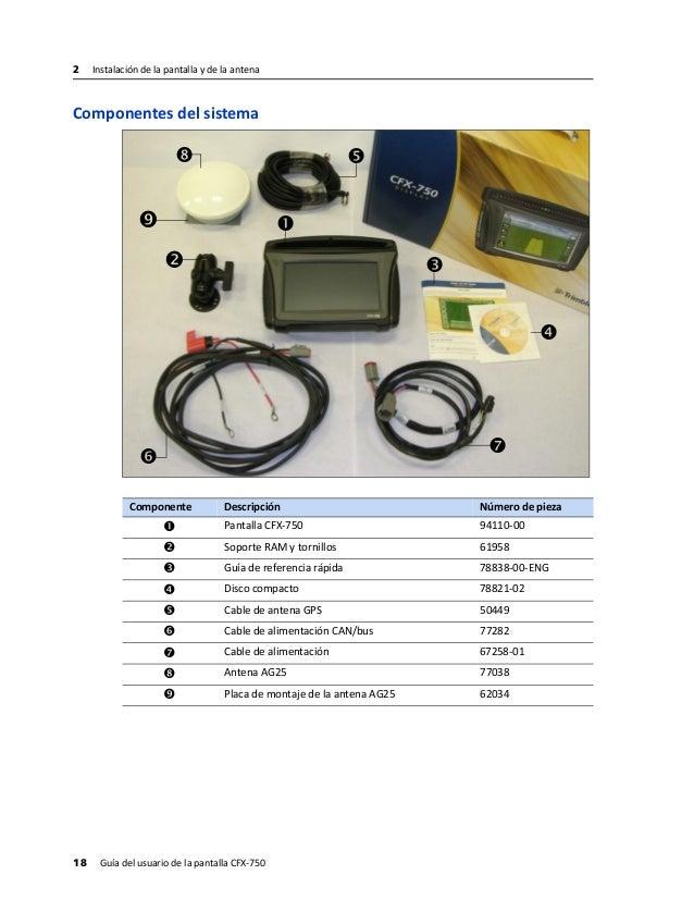 trimble cfx 750 cabling guide 67259