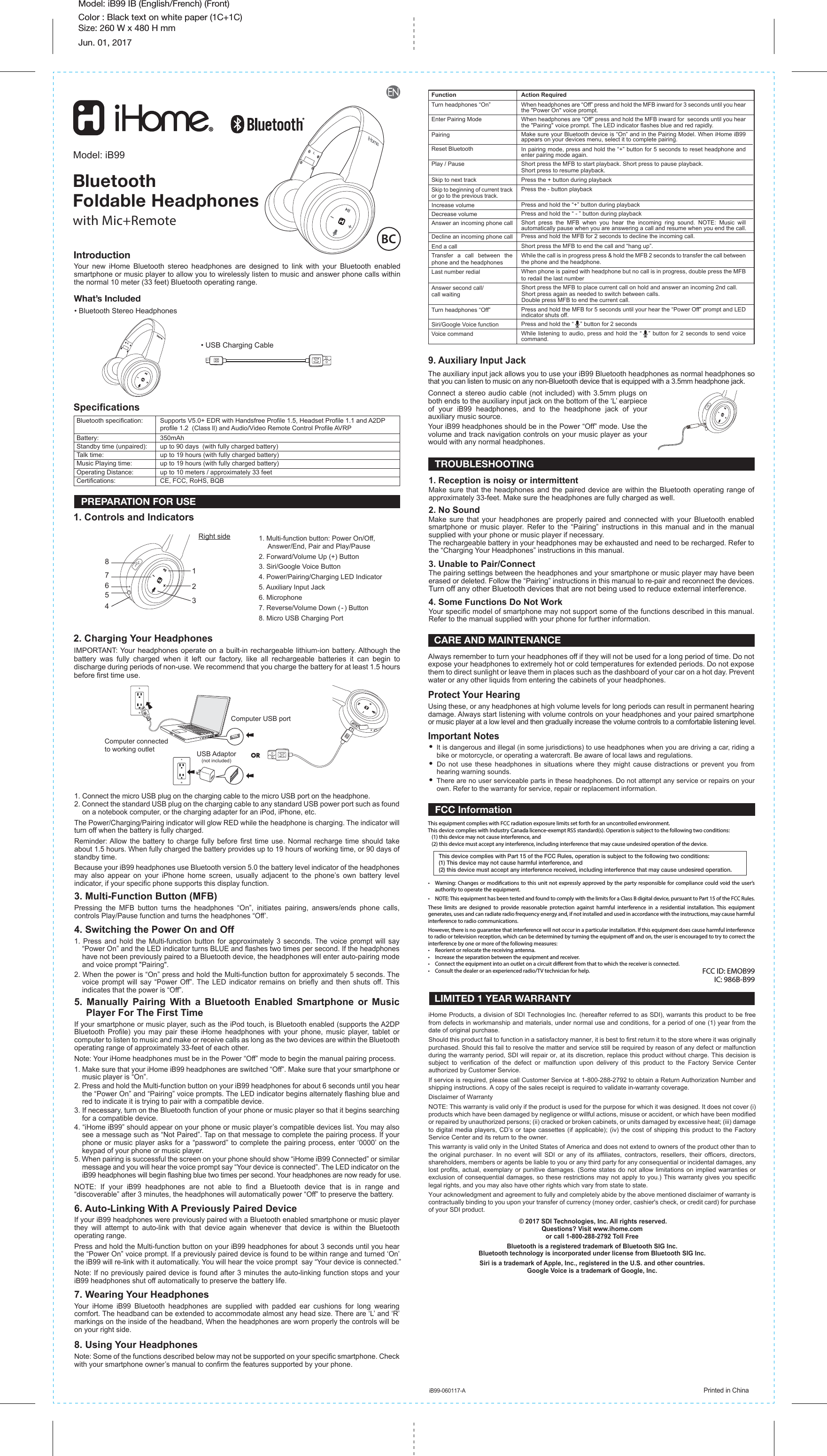 ihome hdl 99 users guide