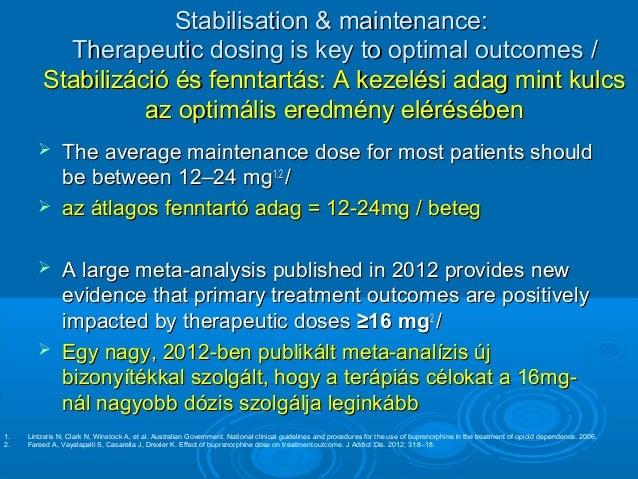 buprenorphine maintenance treatment policy guide