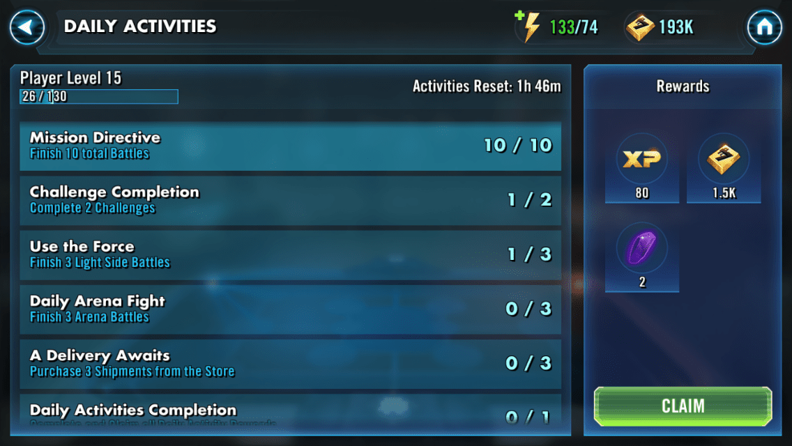 star wars heroes leveling guide