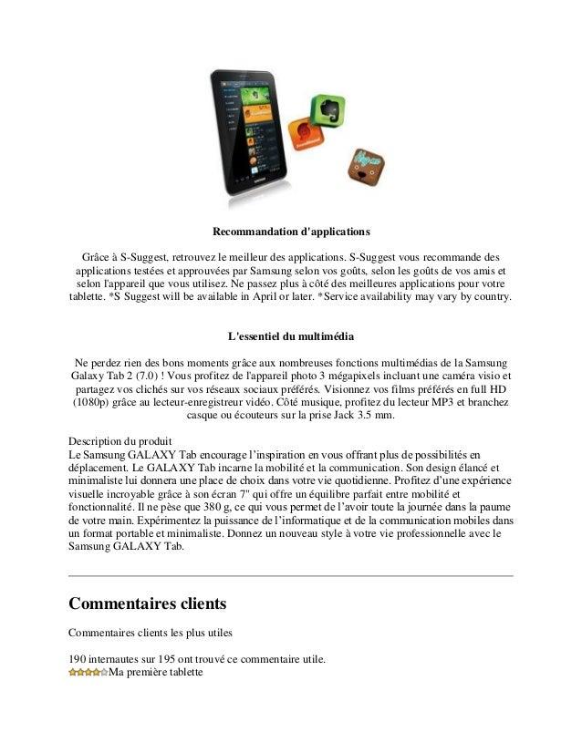 tablette samsung sm-t350 guide d utilisation