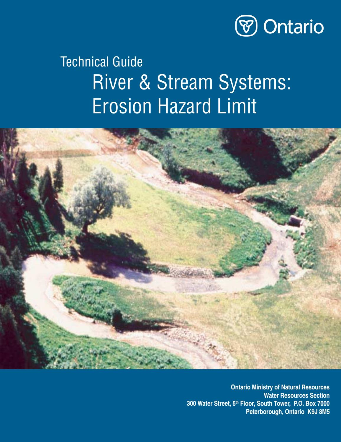 technical guide river and stream systems erosion hazard limit